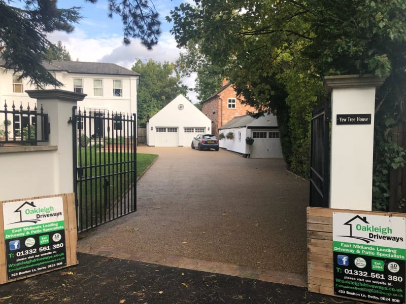 resin driveway in derby