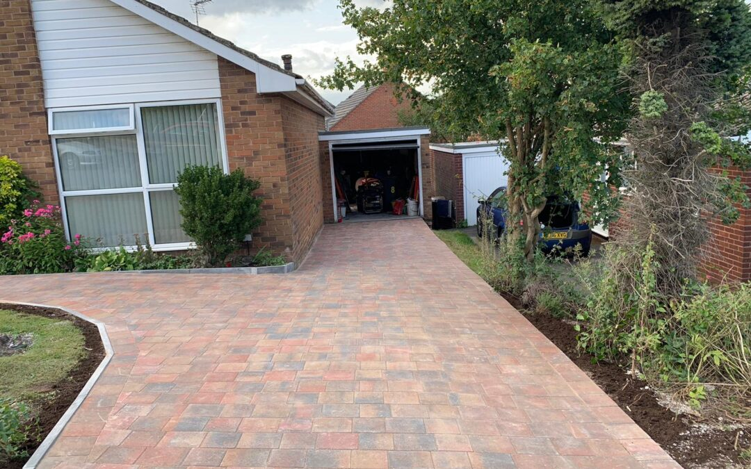 New Block Paving Driveway in Leek Wooton